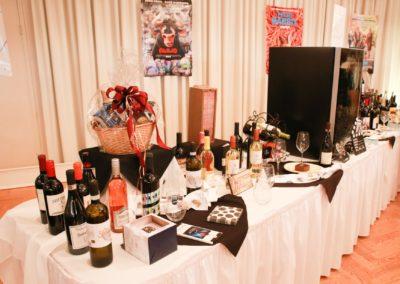 wine raffle table